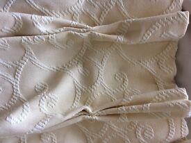 Damask buttercream handmade curtains