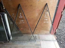 5 x Triangular Double Glazed Glass Units