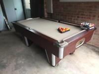 Pool table. Dpt. slate bedded,new cloth
