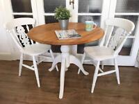 SOLID Vintage OAK TABLE AND CHAIRS FREE DELIVERY LDN 🇬🇧