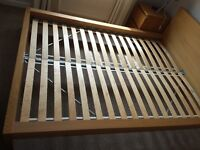 Malm ikea bed (oak) and matching bedroom furniture set