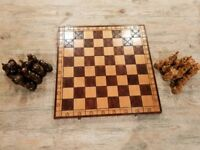 Vintage wood chess board