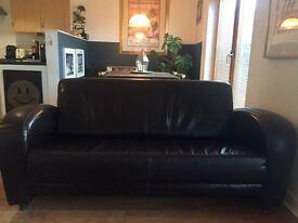 Dark brown Art Deco sofa