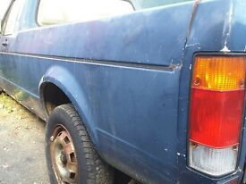 mk1 caddy golf pickup. unmolested original and solid.