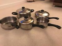 Set of 5 Stellar stainless steel pans