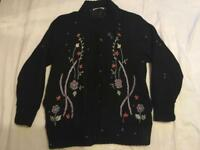 Effections ladies wool jacket bottoms black size 14 used £4
