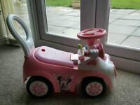 Minnie mouse push car