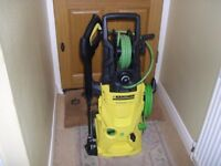 KARCHER K4 PREMIUM ECOLOGIC COLD WATER PRESSURE WASHER JETWASH IN EXCELLENT CONDITION.