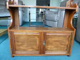 Retro, antique, vintage, small hardwood cupboard