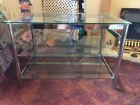 Chrome/Glass TV/HiFi Stand,