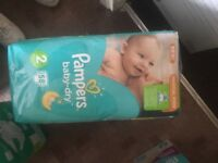 Pampers nappies size 2 3 packs