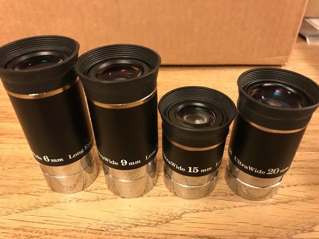 Telescope lens kit ultra wide lenses with eye relief