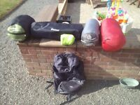 sleeping bags/camping job lot