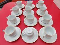 Czechoslovakia Bohemia china tea set