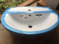 Roca single hole basin and pedestal