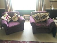 Two comfy M&S armchairs