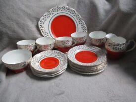 Vintage Imperial Fine English China Tea Set