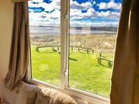 😀😀Stunning view on this sea view pitch and caravan at Sandy Bay Holiday Park😀😀 NE63 9YD satnav