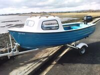 A GREAT FISHING BOAT WHICH IS EASY TO LAUNCH - THE PACKAGE COMES WITH A TOHATSU 3.5HP OUTBOARD