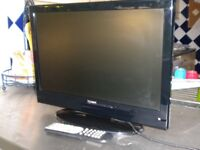 """TV with built in DVD player 19"""" screen."""