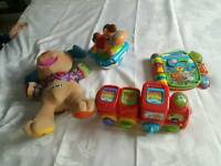 Selection of baby v tech leapfrog and fisher price toys