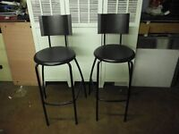 TWO HIGH DINING CHAIRS