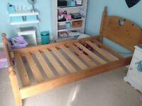 Antique Pine Single Bed