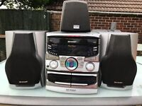 SHARP CD PC651 RETRO HiFi UNIT & 3 SPEAKERS **Quick sale needed**