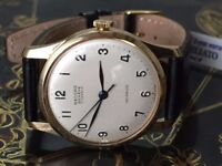 Vintage solid 9k 9ct 375 gold Record mens watch (longines)