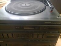 SANYO STEREO SYSTEM ST-707J / RECORD PLAYER,RADIO,DOUBLE CASSETTE & CD PLAYER