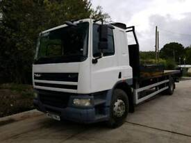 Leyland daf CF65 18 ton flat bed 2002 price reduced●●