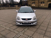 honda civic type r 2004 53 reg a/c model facelift 2.0 6 speed silver