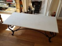 India Jane Marble-effect Garden Table