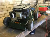 "Webb R41SP 16"" self propelled petrol rotary lawnmower. In excellent condition"