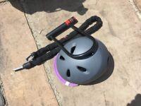 Helmet and lock