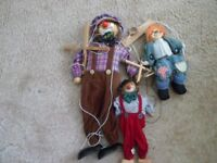 3 well loved puppets