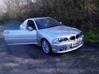 Silver BMW 2.5 litre 325ci