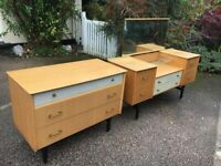 Retro Dressing Table And Chest Of Draws Possible Delivery