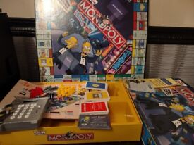 The Simpsons monopoly board game electronic