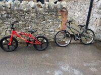2 bikes (a BMX and Road Bike) aged 7 - 11