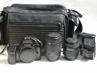 Canon EOS 1000f SLR Camera and accessories
