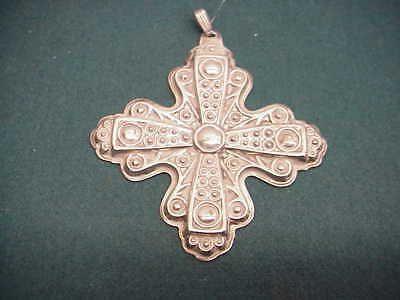 Vintage 1976 Reed and Barton Christmas Cross Ornament 925 Sterling Silver OT 231