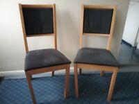 Ikea Folke dining chairs x 4