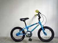 "(2141) 16"" 9.5"" APOLLO ACE 38 BOYS GIRLS KIDS CHILD BIKE BICYCLE; Age: 5-7; Height: 105-120 cm BLUE"
