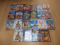 Collection of 22 DVDs, mainly children's