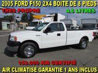 2005 Ford F-150 2X4 BOITE DE 8 PIEDS TRES RARE 152.000 KM
