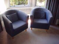 Two IKEA tub chairs