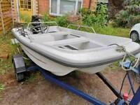 Orkney Dory 325 boat, trailer and engine