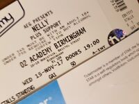 Nelly concert tickets Birmingham - 15 November 2017