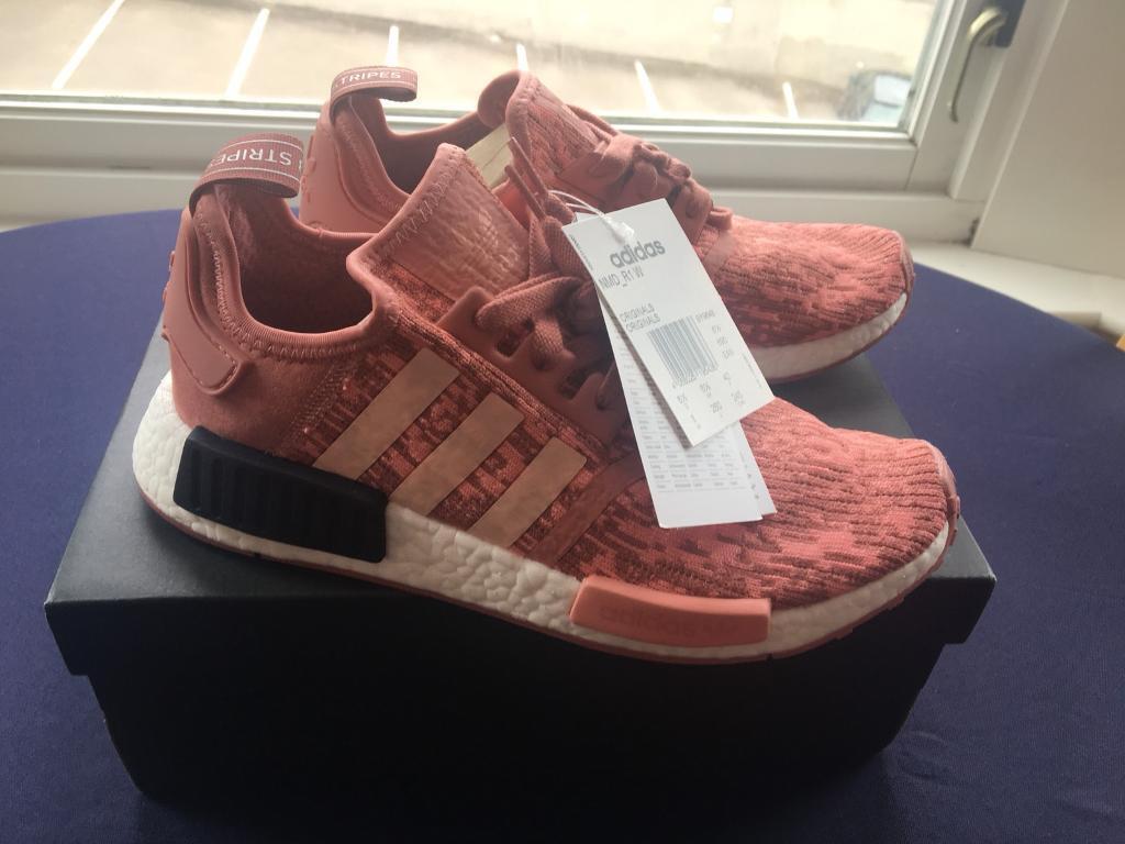 53ae57106 Brand New Women s Adidas NMD R1 Raw Pink Glitch Running Trainers Size UK 6